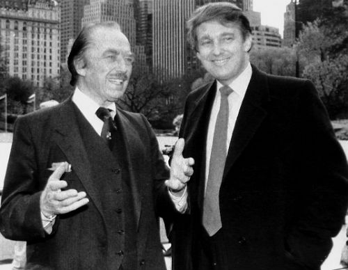 Donald Trump with father Fred Trump