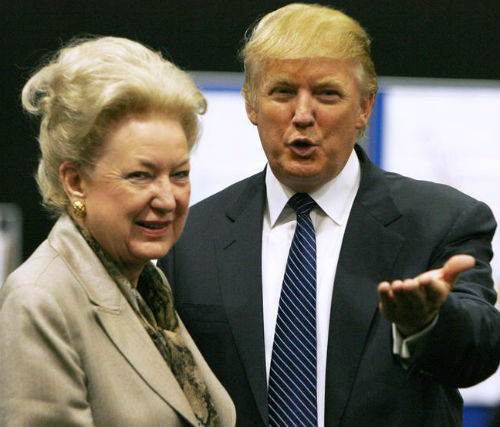 Donald Trump with sister Maryanne Trump Barry