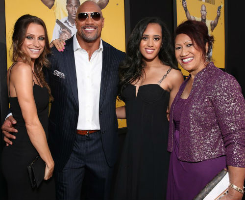 Dwayne Johnson Family Wife Girlfriend Mother Daughters