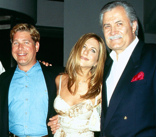Jennifer Aniston with half-brother John Melick and father