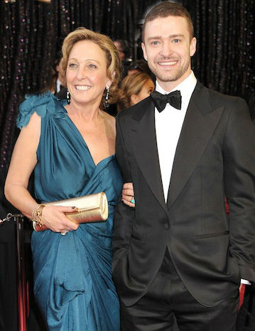 Jessica Biel's mother in-law Lynn Bomar Harless & son Justin Timberlake