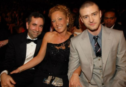 Justin Timberlake with parents attending an award event