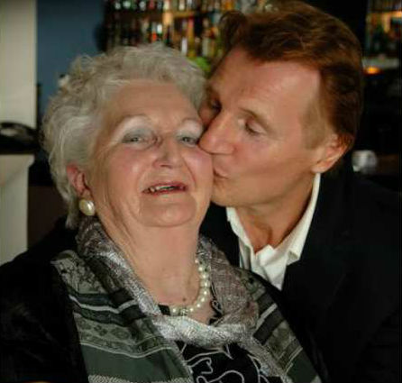 Liam Neeson with mother Katherine