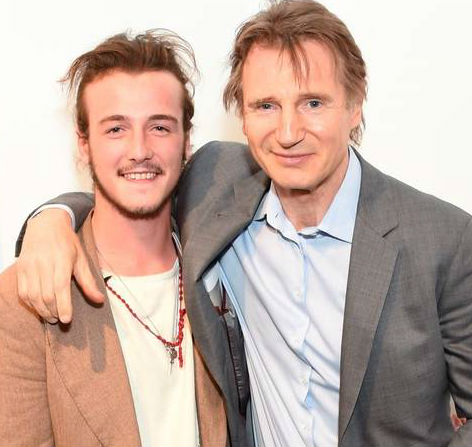Liam Neeson with son Michael Neeson