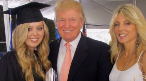 Marla Maples & Donald Trump with daughter Tiffany Ariana Trump