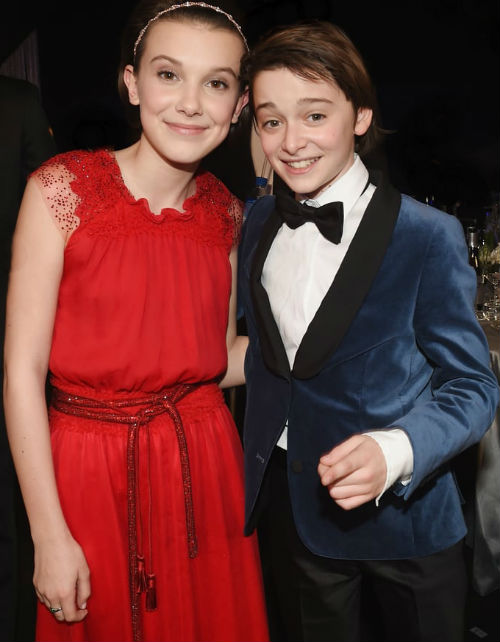 Millie Bobby Brown & Noah Schnapp