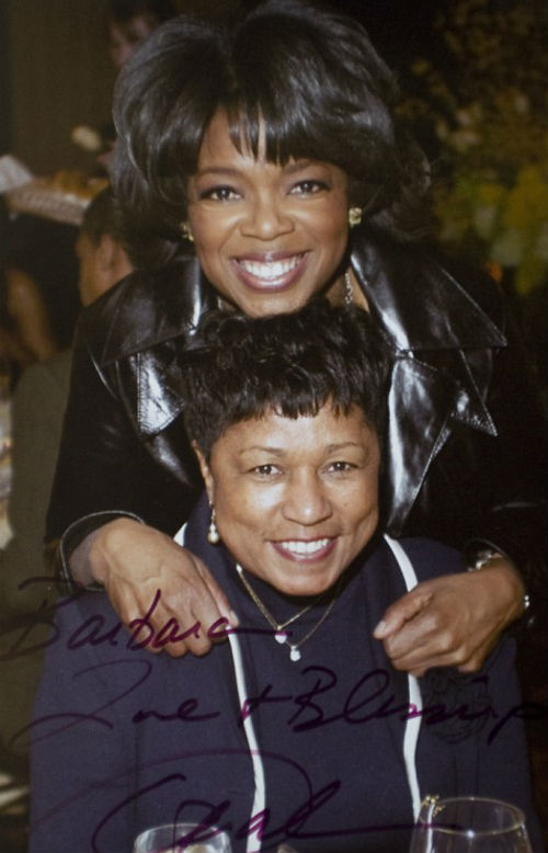 Oprah Winfrey with her stepmother Barbara Winfrey