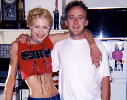 Portia de Rossi with brother Michael Rogers